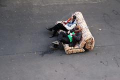 Aussichten. (__J) Tags: street berlin men boys hat sitting sandals smoking couch sofa hut jungs mnner neuklln rauchen sandalen sitzen 2011 strase sigma1770 canoneos400d weserstrase