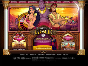 Aladdin's Gold Casino Home