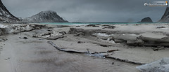 Crappy weather on Haukland beach (dieLeuchtturms) Tags: panorama norway horizontal norge europa europe norwegen lofoten nordland querformat vestvgya 7x3 21x9 hauklandbeach 235x100