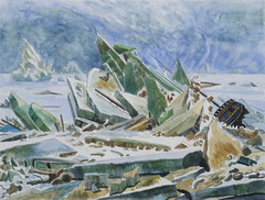 After Friedrich Watercolour (Fareed Suheimat) Tags: sea art ice watercolor artwork marine german watercolour friedrich fareed germanart greenice polarsea suheimat daseismeer wreckofhope