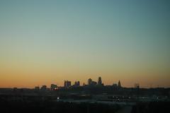 (Terin Talarico) Tags: morning bus skyline sunrise cityscape unitedstates roadtrip kansascity missouri 2007 unedited greyhoundbus nocolorcorrection newyorkcitytodenver