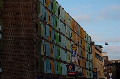 A colorful building in Malmo