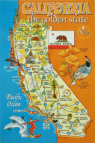 California map from Maddeleine5, US by Alvhyttan