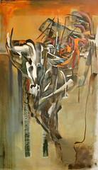 LA MUERTE AGAZAPADA (Diego Cano) Tags: animal pintura oleo calido figurativo figuracion