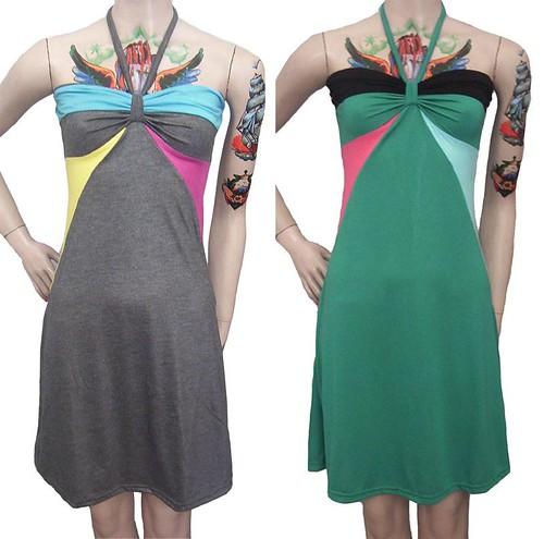 Vestido Verano 2008 Colores Combinados