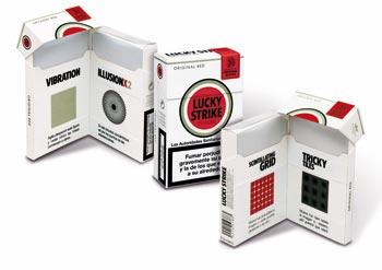 Paquetes tabaco para evadir mensajes antitabaco