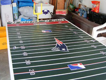 patriots football beer pong table