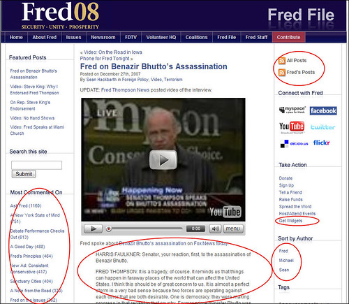 Fred Thompson for President - Fred File Blog