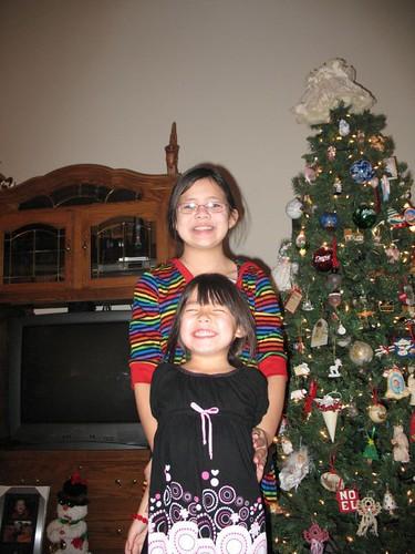 Amanda and Emily, Christmas 2007