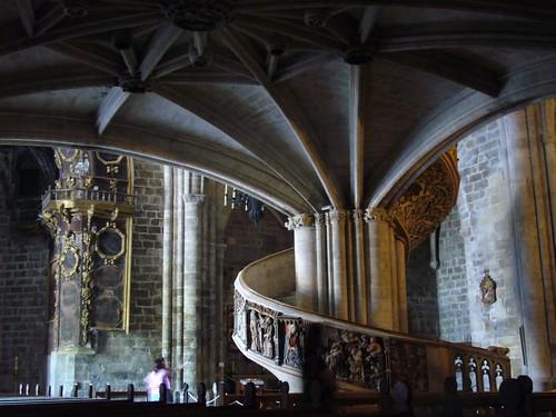 Escalera de la catedral de Morella