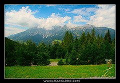 Austrian magical nature (Hamad Al-meer) Tags: travel blue sky cloud mountain tree green nature clouds landscape photography eos austria photo europe village image wide hd kuwait 1785 magical austrian 30d artphoto حمد aplusphoto kuwaitphoto kuwaitartphoto betterthangood kuwaitart hamadhd hamadhdcom hamadh