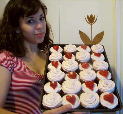 strawberry cupcakes for the people