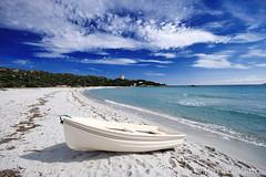 Pausa bianca (LucaPicciau) Tags: blue sea sky white seascape water coast boat sand barca mare sardinia blu bianca est esat sarrabus castiadas scafo i picciau