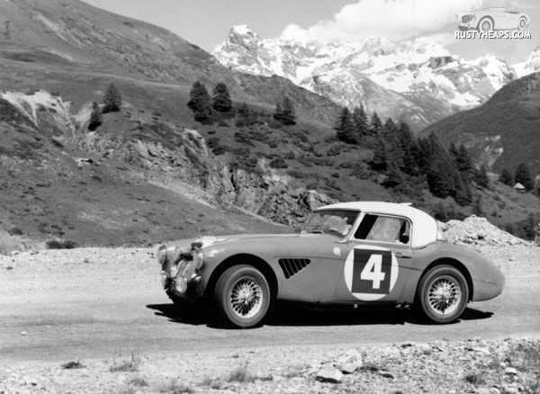 Healey on the Alpine Rally