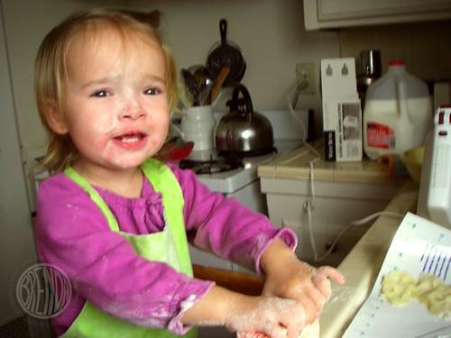happy baking girl