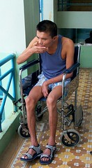 Brain Injured (valockett) Tags: man wheelchair vietnam paralyzed braininjury