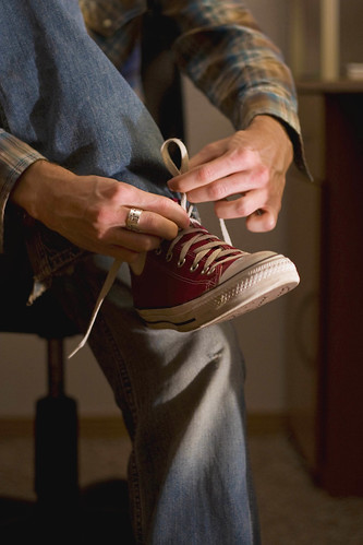 Lacing up shoes - importance of being active