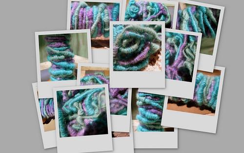 Collage of Corespun Yarn