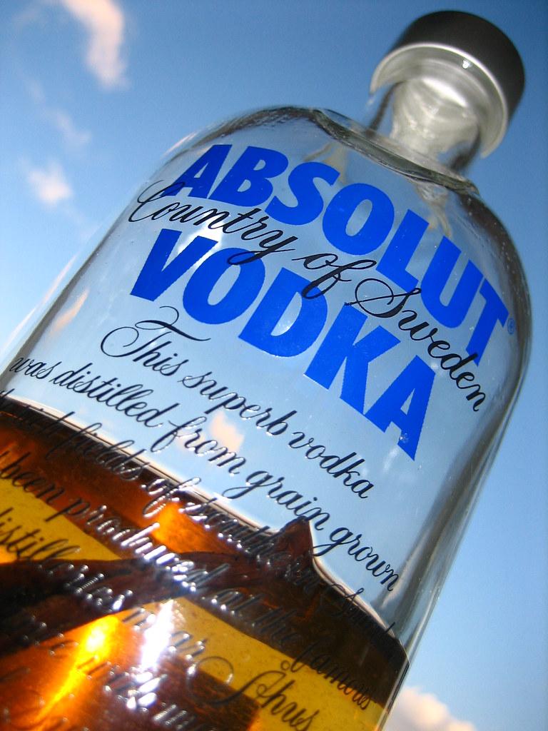Absolut Vodka - Original (with an added vanilla pod)