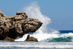 Dragon's Breath Point (StGrundy) Tags: ocean blue sky white green beach nature water landscape haiti nikon rocks paradise surf waves caribbean splash rugged hispaniola gettyimages crashing labadee d80 dragonsbreathpoint superhearts photocontesttnc08 oceansofwondercontest oceanstnc08
