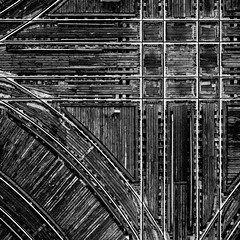 City Grid (The New No. 2) Tags: wood urban bw copyright white chicago black deleteme4 monochrome train illinois gbrearview savedbythedeletemegroup platform el delete4 save save2 il saveme10 transportation l save10 elevated straight curved perpendicular savedbythedeltemeuncensoredgroup allrightsreserved chicagoist orthogonal thenewno2 save11 ltrack johncrouch collectiona copyright2008 copyrightjohncrouch tnn2 johncrouch maycoop wwwcrouchphotoscom johncrouchphotography capturemychicago crouchphotos