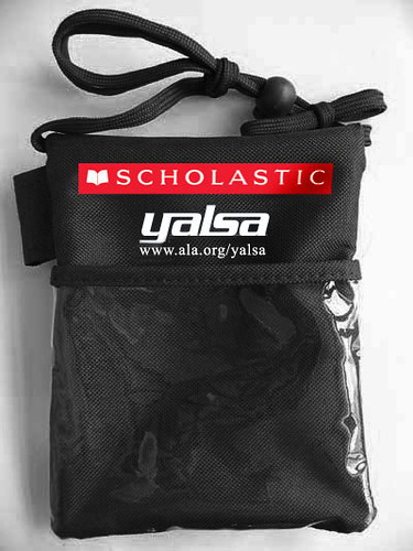 YA Literature Symposium badge holder- sponsored by Scholastic