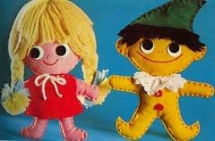 Pixie and Trixie (Fiona Goble) Tags: doll handmade sewing retro plush softie handstitched sewn