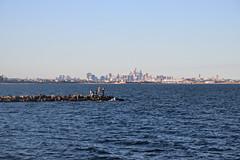 2017 Sydney Skyline from Botany Bay #3 (dominotic) Tags: sydney nsw australia newsouthwales 2017 sydneycbd sydneyskyline botanybay water beach brightonlesands sydneyairport ladyrobinsonsbeach rockfishermen