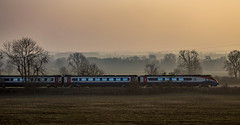 Meridian (Peter Leigh50) Tags: east midland trains meridian emt diesel unit field trees hazy sunshine late afternoon