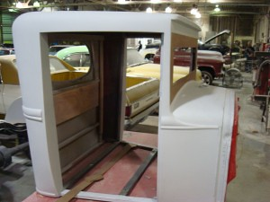Side View of Custom Cab for 1930 Ford Stakebed Replica