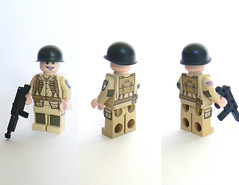 Lego WWII US Paratrooper (V3) (Milan CMadge) Tags: 3 brick us lego para military wwii version custom decals thompson battalion paratrooper m1a1 milans brickarms
