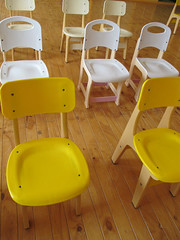 in the school play (:Deee) Tags: yellow canon chair powershot organized schoolplay g11 schoolartsfestival