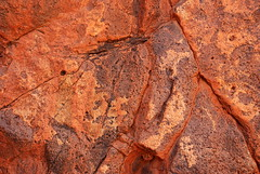 richly-coloured rock of a small waterfall by mount gee - link to my Arkaroola Sanctuary - would U mine it? set on flickr
