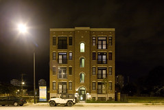 Sierra (metroblossom) Tags: usa chicago building night illinois study southside residential 169 isolated newconstruction img9394jpg