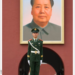 Mao's portrait at Tiananmen Square 天安門