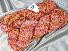 A Peachy Fly Designs Knit Paint Sock Yarn