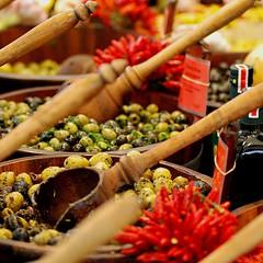 Oliven auf dem Viktualienmarkt