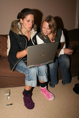 Pink & Purple Socks (gareth e owen) Tags: pink party emily sock purple laptop fluffy tracey banbury