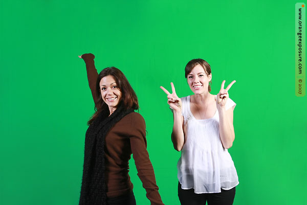 green screen photography for events - orange exposure