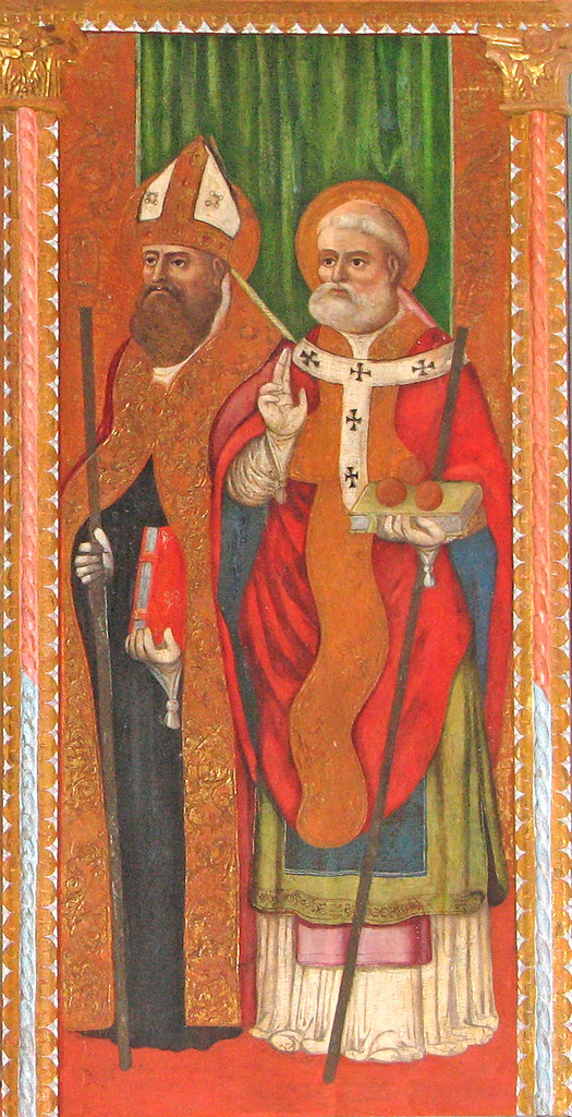 St Nicolas of Bari with another sainted bishop