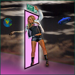 Outta space door (Neil67) Tags: photoshop earth space blonde spaceship exit outer oob