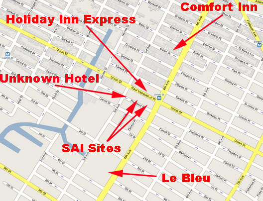 Gowanus Hotel Map