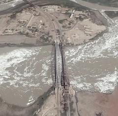 Sukkur-Rohri bridges across the Indus (msb1606) Tags: road bridge pakistan river island asia fort railway sindh indus sukkur rohri bukkur