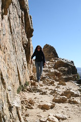 Tammy descending Inspiration Point (Beaver Creek, Wyoming, United States) Photo