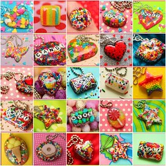 My YUMMY Creations!   (stOOpidgErL) Tags: cake butterfly star diy necklace rainbow fdsflickrtoys kiss colorful candy heart sweet handmade mosaic stripes craft jewelry lips sugar plastic nerds cupcake sprinkles icecream donut resin dots lollipop artsyfartsy pendant pendants stoopidgerl