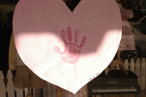 handprint on heart