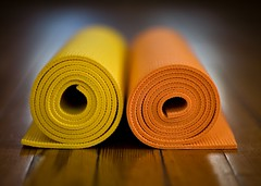 Yoga mats (Richard-) Tags: orange yellow yoga raw mat 2008 lightroom canoneos5d canonef85mmf12liiusm