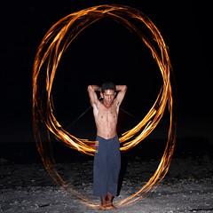 Fire Juggling (New Dad) Tags: beach speed dark thailand fire slow dancing curtain flash ko poi shutter co second torso juggling juggle koh chang