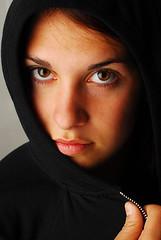 Francesca (Austin M. Shaffer) Tags: mystery hoodie sweater eyes italian emo lips francesca jacket mysterious thumb emotional