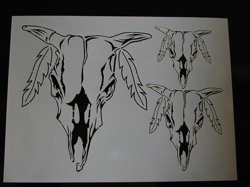 airbrush skull stencils